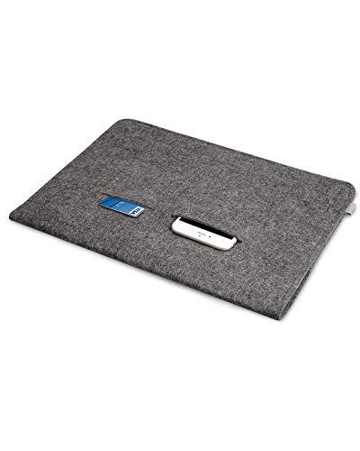 Inateck Filz Hülle Tasche Kompatibel mit 16 Zoll MacBook Pro 2019, MacBook Pro 15,4 Zoll/XPS 15/ Ultrabook Laptop Sleeve Case, Dunkelgrau