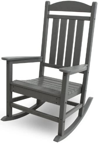 Best POLYWOOD R100GY Presidential Outdoor Rocking Chair, Slate Grey