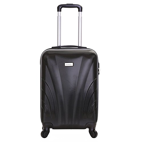 Slimbridge Ferro - 55cm 4 ruedas maleta de cabina dura - 35L (Negro)