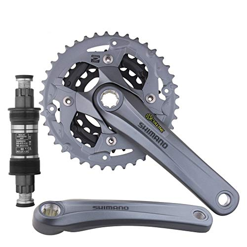 HAIHAOYF Montaña Dique Juego de bielas, Eje de pedalier de Aluminio Crank Piñón BB 40-30-22T Bicicletas Chainwheel Velocidad 3x9 (Color : FC M4000 BB ES300)