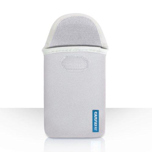 Caseflex Kompatibel Für Samsung Galaxy Note 3 Tasche Weiß Neopren Beutel Hülle Logo