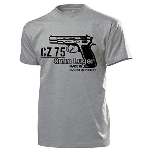 CZ 75 9mm Luger Pistola Pistola Decoración Disparador Chequia puño T Camiseta # 17744