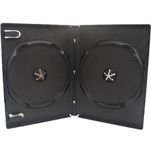 100 zwarte dubbele dvd-hoesjes - 14mm - Toner Nederland