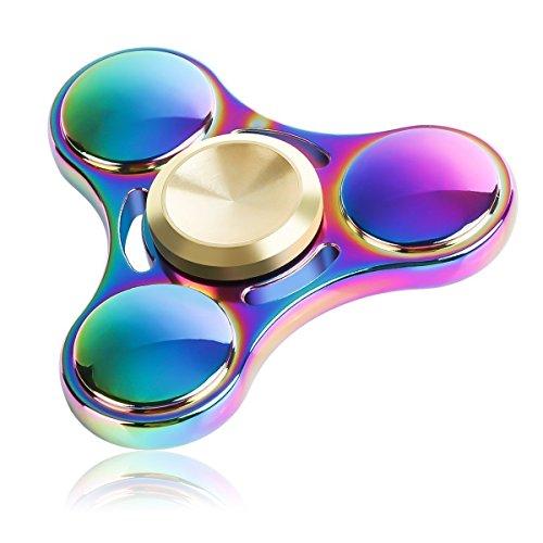Spinner Fidget Anxiety Toys, Spinners For Adults, Children Finger Toy, Hands Spinner Finger rainbow , Durable Bearing High Speed 3-5 Min Spinner