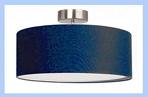 lampadario a sospensione ikea Lampadario moderno cilindro a sospensione montatura in metallo (cm 50 blu c/tappo)