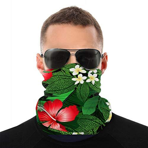 Gedetailleerde tropische bloemen en planten Vector Image_547 Magic Scarf Fashion Unisex Beach Bandanas Wraps Variety Turba