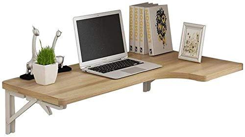 Schreibtisch in L-Form, zusammenklappbarer Tisch, Wandmontage, Arbeitsplatz-Organizer, Klapptisch, Eck-Computer-Schreibtisch, Esstisch (Farbe: Natur)