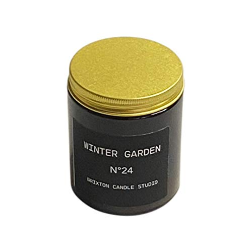 Winter Garden Soy Blend Wax Holiday, Brixton Candle Studio, Soy Wax Blend Candle, Scented Candle,Home Warming Gift,180g Jar, Hand Poured in the UK