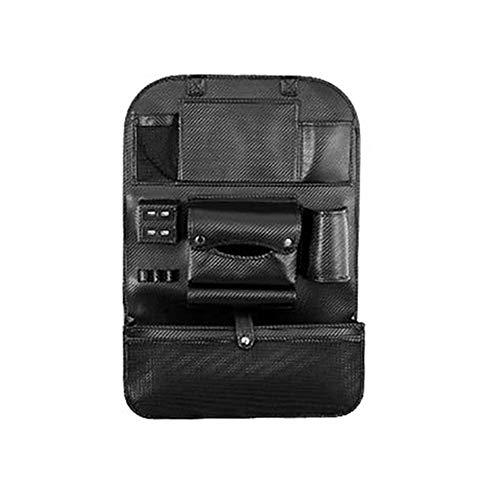 EisEyen autostoel, rug, organizer, 4 USB-oplader, reistas, leer, voor het opbergen van autoaccessoires