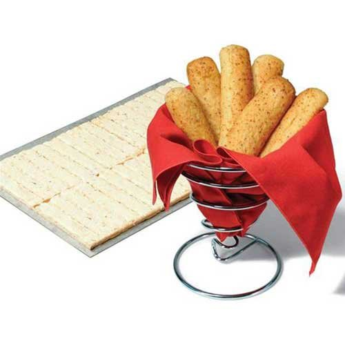Bridgford White Whole Wheat Cheesy Garlic Breadstick Dough -- 320 per case.