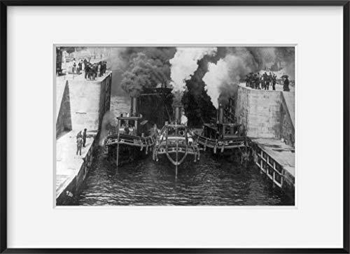 INFINITE PHOTOGRAPHS Foto von 3 Schleppbooten der Hursley Tug Line, Mary, Virginia, Zieht Schiff in Kanal Lock, Saul