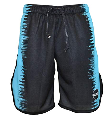 LAB84 Short Basket Stripes, Schwarz M