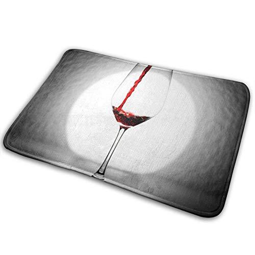 N\A Felpudo de Bienvenida - Alfombra Antideslizante para Entrada de Vino Tinto Alfombra para Puerta Delantera para Interiores y Exteriores - Alfombras Lavables a máquina