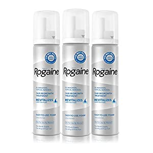 Men's Rogaine 5% Minoxidil Foam for Hair Loss and Hair Regrowth, Topical Treatment for Thinning Hair, 3-Month Supply from Johnson & Johnson SLC Hazmat