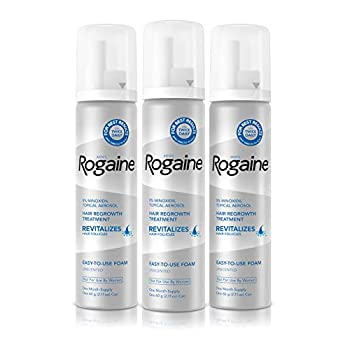 Men s Rogaine 5% Minoxidil Foam for Hair Loss and Hair Regrowth Topical Treatment for Thinning Hair 3-Month Supply