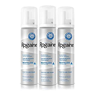 Men's Rogaine 5% Minoxidil Foam for Hair Loss and Hair Regrowth, Topical Treatment for Thinning Hair, 3-Month Supply (B0012BNVE8) | Amazon price tracker / tracking, Amazon price history charts, Amazon price watches, Amazon price drop alerts