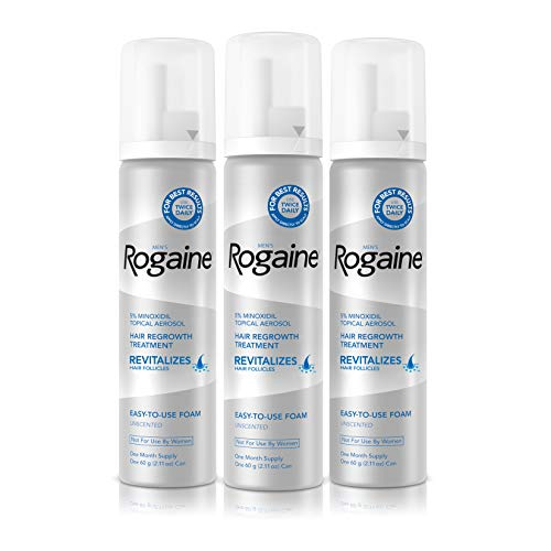 Rogaine 5% Topical Treatment for Thinning Hair - Minoxidil Foam for Hair Loss and Hair Regrowth