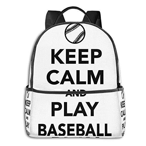 Schultasche doppelte Schwarze Rucksäcke, Spielen Baseball Phrase Sport-Thema mit der Kugel Figur Monochrom Piktogramm, lässig Wandern Travel Daypack 12 '5' 14,5 'LWH