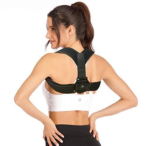 imrusan Geradehalter zur Haltungskorrektur Rücken für Herren und Damen, Rückenbandage Rückentrainer Rückenstütze Schulter Haltungstrainer, Rückenstabilisator Posture Corrector Größenverstellbar
