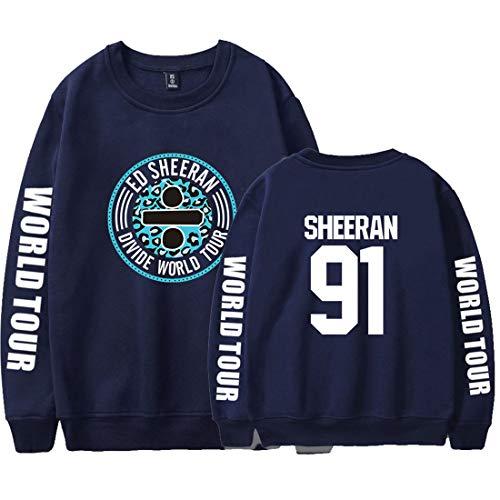 YUANOU 2019 Herren Damen Ed Sheeran 3D Sweatshirt Pulli, Unisex Jungen Mode Oversize Pullover Lose Jacken Casual Hemd Tops