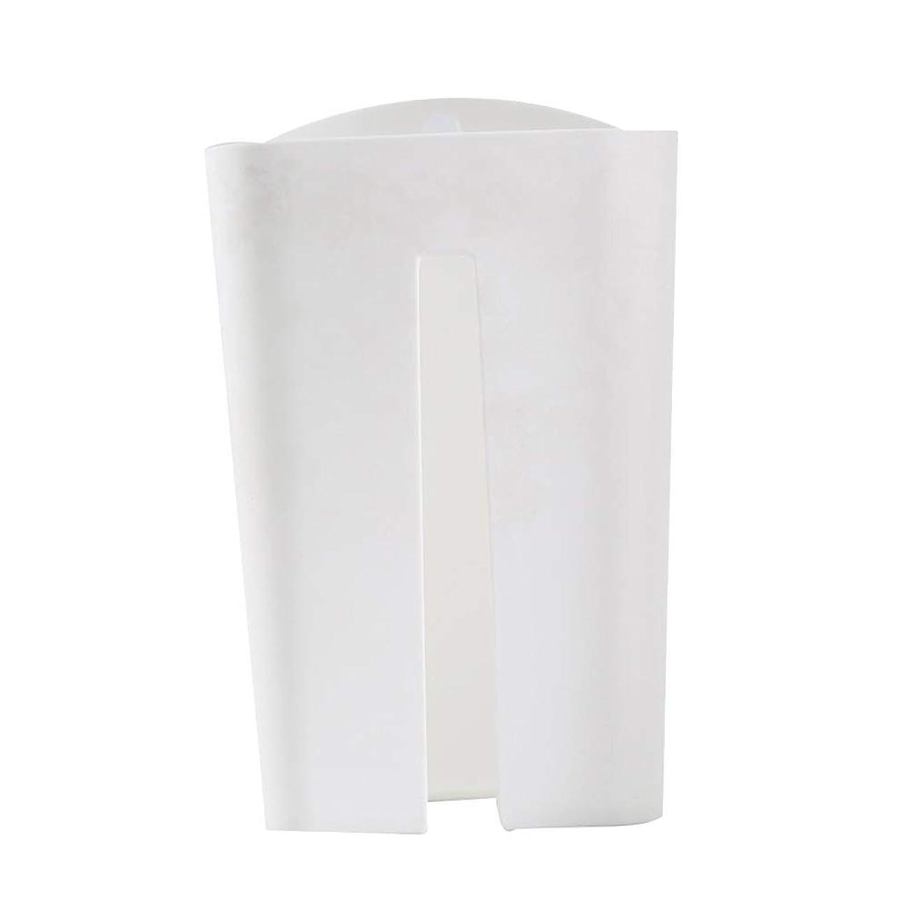 と遊ぶ頬失OUNONA ゴミ袋ストッカー レジ袋ストッカー プラスチック製 壁掛け キッチン収納ボックス(ホワイト)