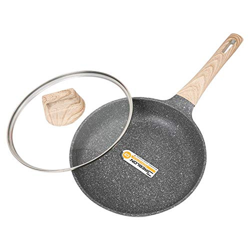 Pan Maifan Stone Non-Stick Household Multi-Function Pancake Dumpling Mold Gas Cooker Algemene Keuken Pot dik en duurzaam / 24x5cm wok (Color : As Shown, Size : 24x5cm)