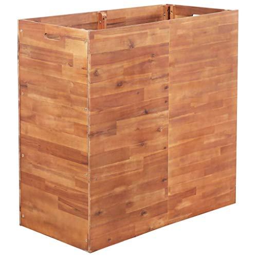 Festnight- Garten Pflanzgefäß | Terrasse Hochbeet | Holz Pflanzbeet | Pflanzkübel | Pflanzkasten | Akazienholz Mehrere Größen 100 x 50 x 100 cm