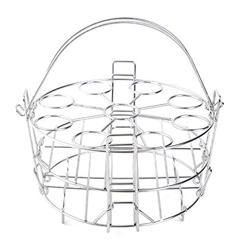 Paniers Cuit Vapeur, Acier Inoxydable Steam Rack Panier Vapeur Cuit Pot Instantané Support d'oeufs Grille à Vapeur Cuisine à la Vapeur Porte Aliments pour Cocotte-Minute