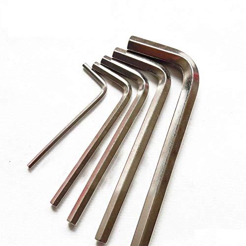 Accesorios para impresora 4 unids Mini Hexágono Allen Llave Set Exótica Micro Llave 1.5mm 2.0mm 2.5mm 3.0mm Destornillador Niquelado Impresora 3D Piezas de Impresora 3D