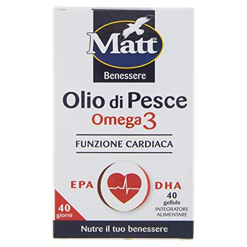 Matt&Diet Olio di Pesce, 40 Gellule, 29.4g