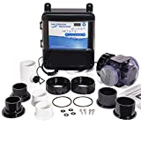 XtremepowerUS 90147 Complete Salt Water System Swimming Pool Generator Chlorination Easy DIY Installation up to 18,000 Gallons, Black