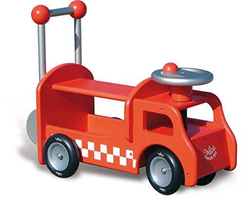 Vilac Porteurs, Bascules et Trotteurs - Camion porteur pompier