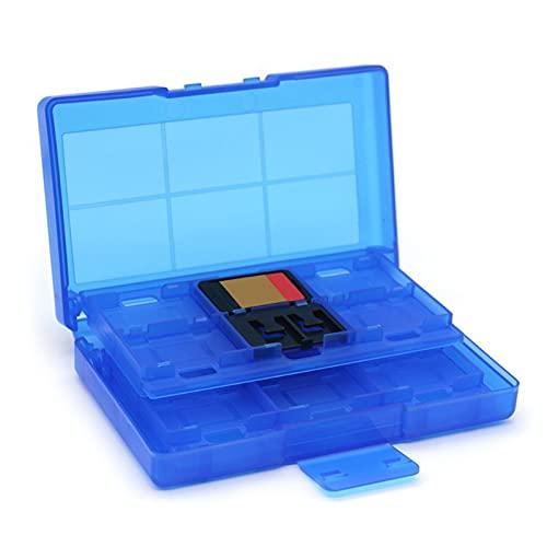 Estuche portátil para tarjetas de juegos de 12 + 2 ranuras para tarjetas de memoria Caja de almacenamiento protectora Cassette para N-intendo Switch tarjeta de memoria Organizador SD