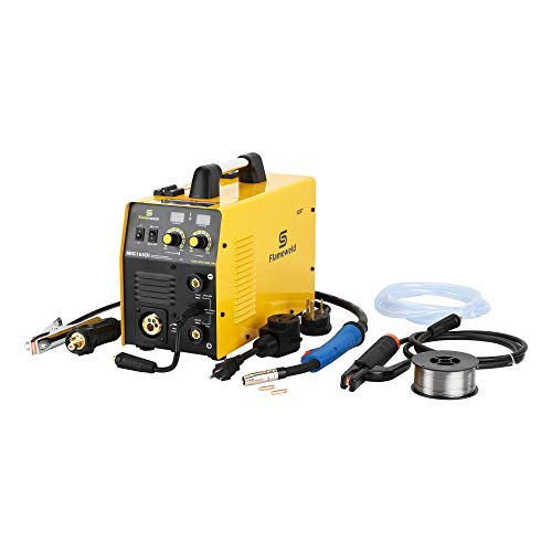 Mig Welding Machine, MIG165D Dual Voltage 115/230V Mig Welder, 2T/4T Stick/Mig Welding (MIG165Di)