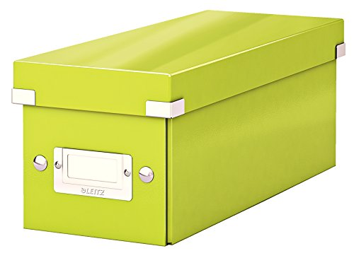 Leitz Caja para guardar CD, Verde, Click and Store, 60410064