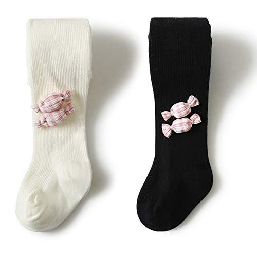 LUO Calcetines Pantimedias de algodón de Punto, Pantimedias de algodón de Punto, Primavera y otoño de algodón, Calcetines cómodos y Suaves, de Cuerpo bebé, 2 Pares (Color : A, Size : 6-12 Months)