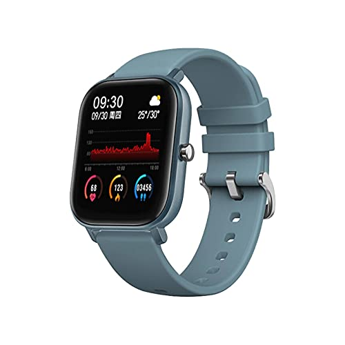 HJYBYJ P8 Pantalla Táctil Completa Relojes Inteligentes Hombres Mujeres IP67 Pulsera Impermeable Deporte Reloj De Ritmo Cardíaco Fitness Smartwatch (Color : Blue)
