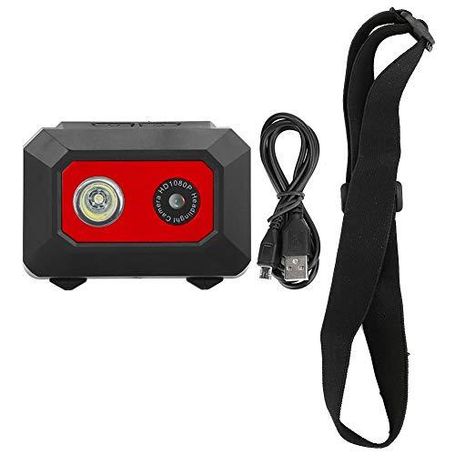 Mini 10-50 ° C Arbeitstemperatur Kopfkamera, Sport-DV-Kamera, Pop-up-TF-Kartensteckplatz Outdoor-Sport für zu Hause(Black red)