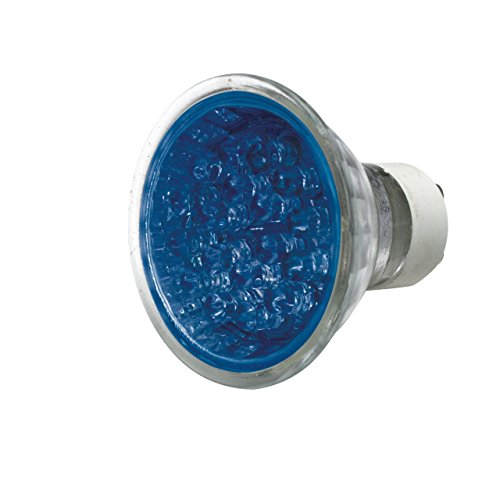 ML593 - GU10 LED LAMP/LICHT 1 W 21 x BLUE LEDs 50 MM GESLOTEN