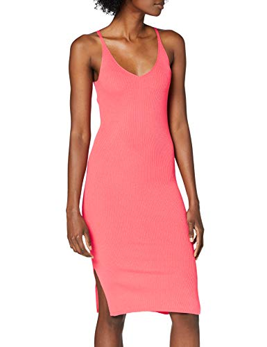 VERO MODA Damen VMALIO Rib SL Strap Dress GA KI Kleid, Dubarry, M