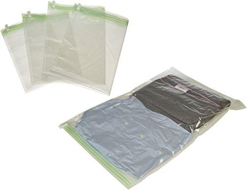Amazon Basics Travel Rolling Compression Bags, No Vacuum, 10 piece