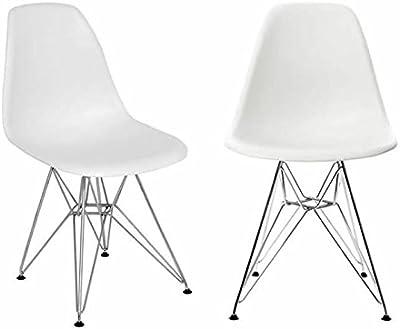 Set of 4 BLACK FRIDAY SALE Black DSW Dowel  Side Chair Mid Century Modern MC