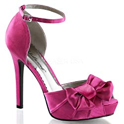 pink heels with bow knot