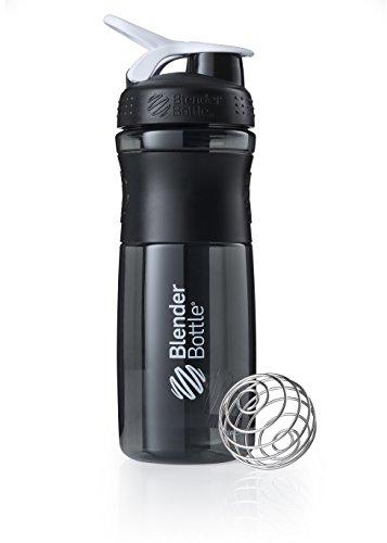 BlenderBottle Sportmixer Tritan Trinkflasche mit BlenderBall, geeignet als Protein Shaker, Eiweißshaker, Wasserflasche oder für Fitness Shakes, BPA frei, skaliert bis 760 ml, 820 ml, weiß / schwarz