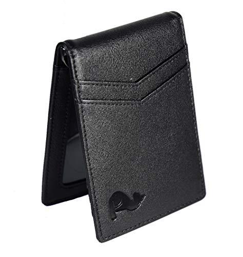 Senior G New Era – Geldbörse für Herren, mit Kartenfach, I-Clip und RFDI-Blockierung, Maße: 1,5 x 8 x 11 cm Schwarz Schwarze Nacht