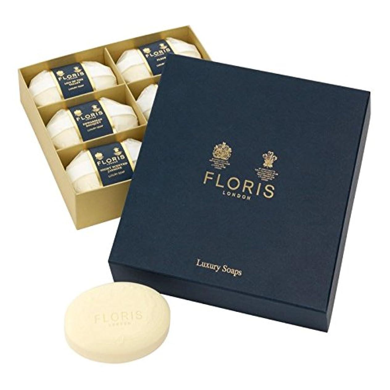タイルしなやかヤング[Floris ] フロリス高級ソープコレクション6×100グラム - Floris Luxury Soap Collection 6 x 100g [並行輸入品]