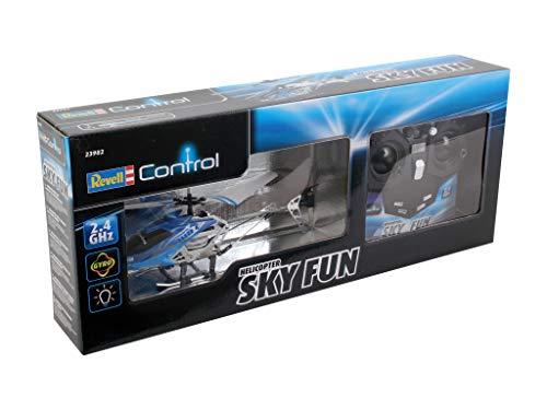Revell Control RC Helikopter, ferngesteuerter Hubschrauber für Einsteiger, 2,4 GHz Fernsteuerung, einfach zu fliegen, Gyro, stabiles Chassis, LED-Beleuchtung, USB-Ladegerät – SKY FUN 23982 - 8