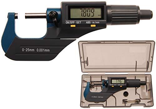 BGS 8427 | Digital-Bügelmessschraube | 0 - 25 mm | Digitaler Mikrometer / Mikro-Messschieber