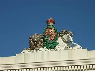 Home Comforts Figurine Unicorn Lion Royal England Statue Emblem Vivid Imagery Laminated Poster Print 11 x 17