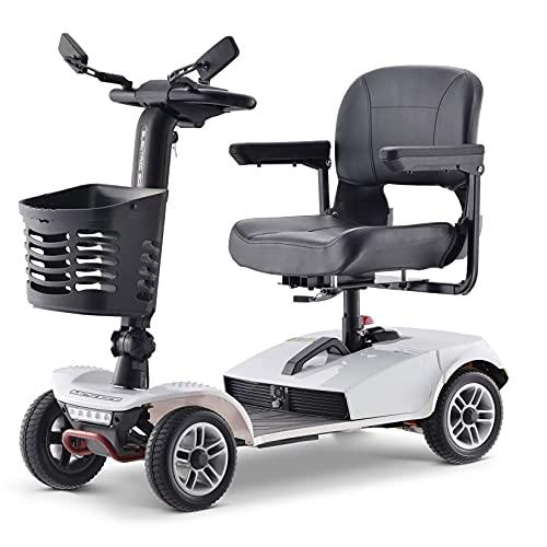Scooters De Movilidad De 350W Y 4 Ruedas Para Discapacitados Y Ancianos, Triciclo Eléctrico Para Adultos De Hasta 8 Km / H, Scooter Portátil Compacto Plegable, Batería Extraíble De 24V 12 Ah,B